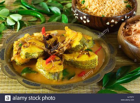 sri lanka cuisine fish curry with string hoppers sri lanka food stock photo