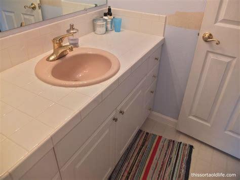 sink at the door simple bathroom vanity removal hah