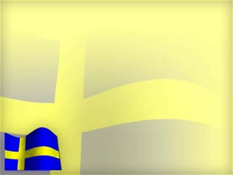 sweden flag  powerpoint template