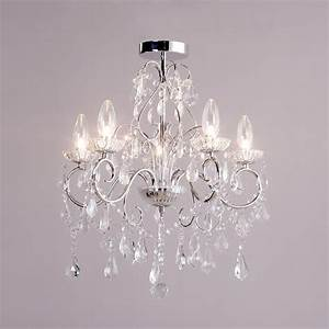 5 light modern in chrome decorative bathroom chandelier With chandeliers for bathrooms uk