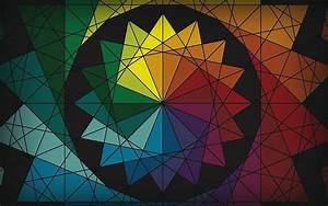 Hd, Wallpaper, Abstract, Colorful, Circle, Triangle, Color