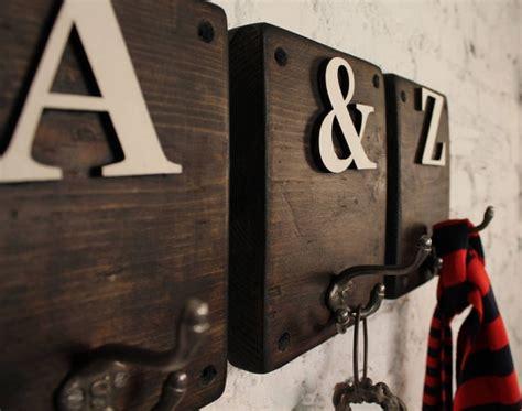 rustic wooden letter hook moea design