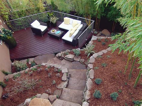 triyae deck ideas for steep backyard various