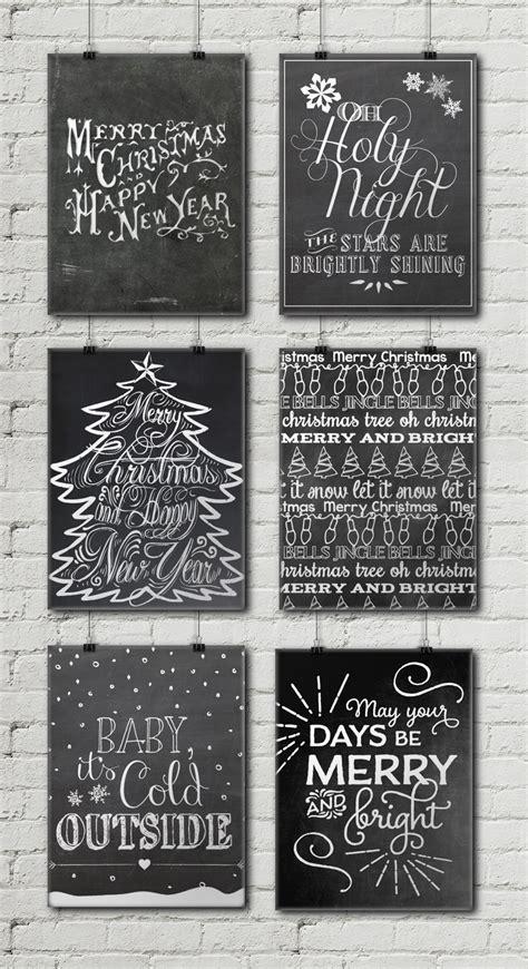 christmas chalkboard printables  gold pixel