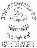Coloring Personalized Birthday Pages Printable Happy Custom Cupcake Cake Getcolorings Sydney Colorings Books Getdrawings Favor Childrens Highest Trend Luxury sketch template