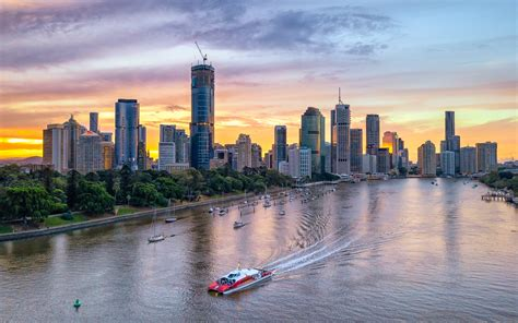 Find millions of popular wallpapers and ringtones on zedge™ and personalize your phone to suit you. Sunset At Brisbane Kangaroo Point Australia Aerial View 4k ...