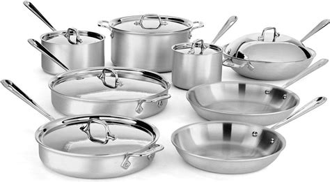 cookware chef clad master professional piece sets stainless mc2 amazon save dansdeals prime steel commercial savings classic kitchen