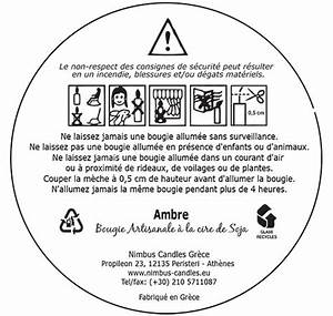 Security safety labels nimbus candles soy wax candles for Candle safety labels