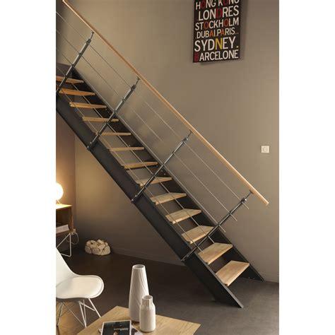 Escalier Droit Zen Leroy Merlin by Escalier Droit Lisa Structure Aluminium Marche Bois