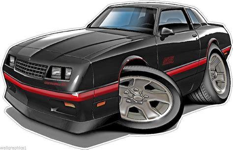 1984-88 Chevy Monte Carlo Cartoon Car Art Wall Decal