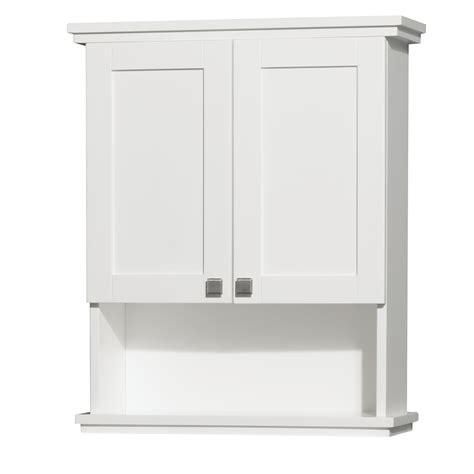 acclaim wall cabinet white bathroom storage wyndham