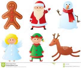 christmas characters royalty free stock photo image 11537235