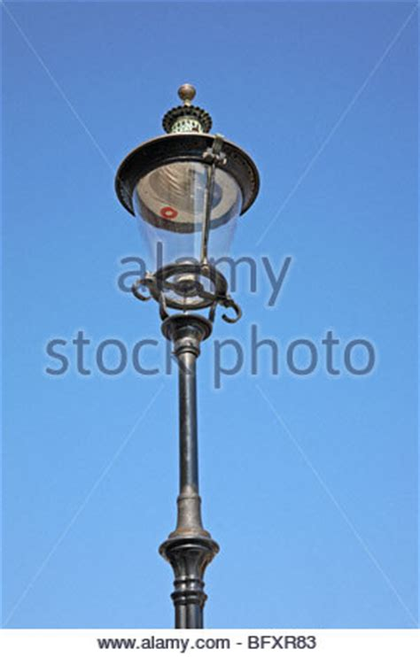 antique gas street ls a cast iron street light with a gas lantern in nottingham