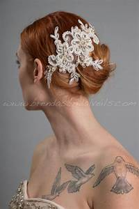 Ivory Lace Bridal Hair Piece Pearl And Lace Wedding Hair
