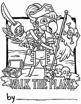 Pirate Plank Pete Coloring Wood Number Pages Template Personalization Ages Popular Designs Most sketch template