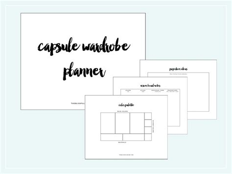 Capsule Wardrobe Planner by How To Start A Capsule Wardrobe The Blissful Mind