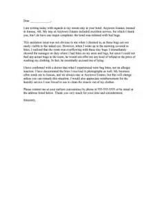 Hotel Cleanliness plaint Letter