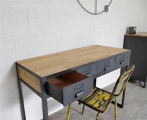 Bureau Industriel Tiroirs En Mtal Fabrication Franaise