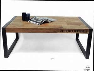 Table Bois Et Fer : table basse bois fer ~ Premium-room.com Idées de Décoration