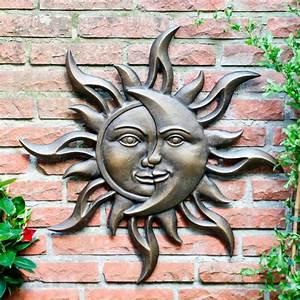 Wanddeko Für Garten : wandbild sonnenmond online kaufen bei g rtner p tschke ~ Watch28wear.com Haus und Dekorationen