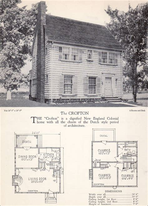 colonial revival house plan  crofton home builders catalog