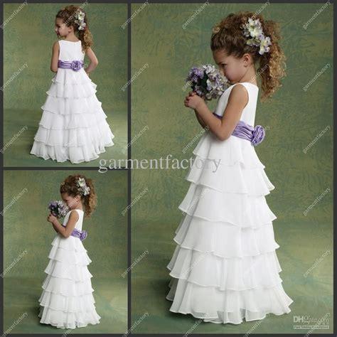 Preiswerte Blumenmädchenkleider Für Hochzeiten Chiffon
