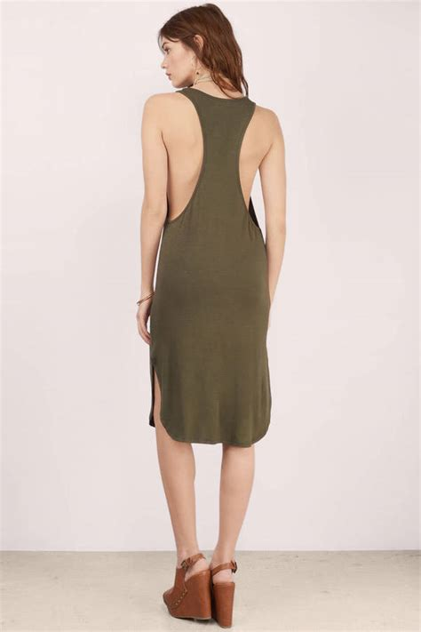 cheap olive midi dress green dress u neck dress midi