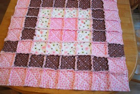 how to quilt baby rag quilt tutorial