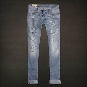 Hollister HCO Men's Low Rise Skinny Fit Jeans Destroyed ...