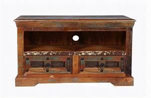 Tv Möbel Vintage : vintage m bel tv board 95x50x40cm massiv ~ Watch28wear.com Haus und Dekorationen