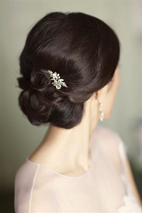 simple bridal hair updos chignon hairstyles beautiful hairstyles