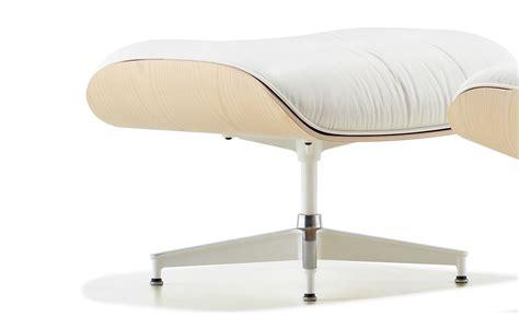 white ash eames 174 lounge chair ottoman hivemodern