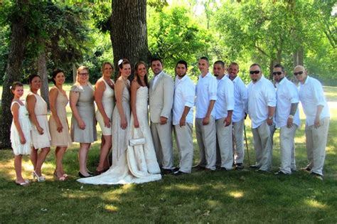 Casual / Elegant Summer Wedding Party In Neutral Color
