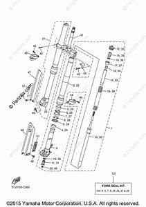 Yamaha Motorcycle 2004 Oem Parts Diagram For Front Fork