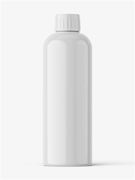 Universal plastic jar, used in the pharmaceutical and food industries. Universal plastic bottle mockup / glossy - Smarty Mockups