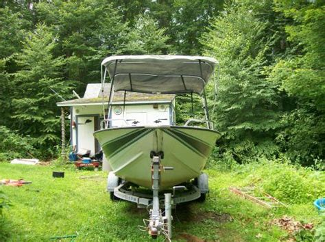 Aluminum Fishing Boats For Sale In Nh by 1993 17 Foot Sylvan Open Boat Aluminum Power Boat For Sale