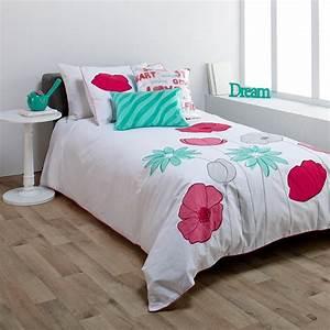 Pop flower collection duvet cover set housses de for Luminaire chambre enfant avec housse de couette rose et marron