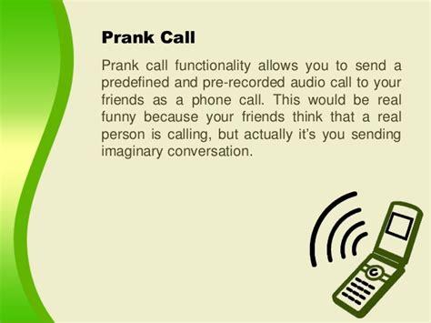 prank phone calls make prank calls through myphonerobot android app