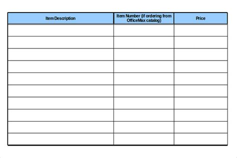 office supply list template charlotte clergy coalition
