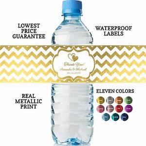 bridal shower water bottle labels real metallic print With bridal shower water bottle labels free