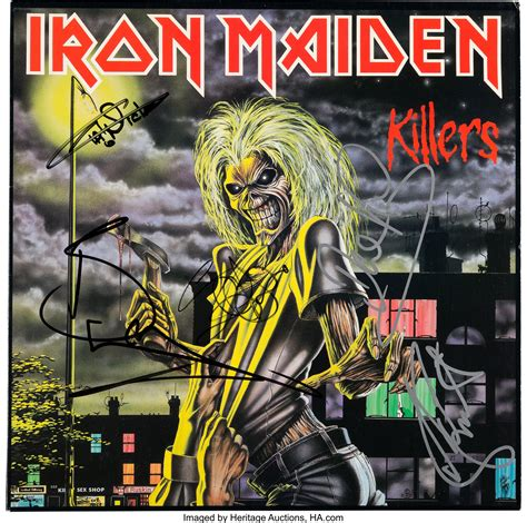 Iron Maiden Signed Killers LP Cover with Backstage Pass ...