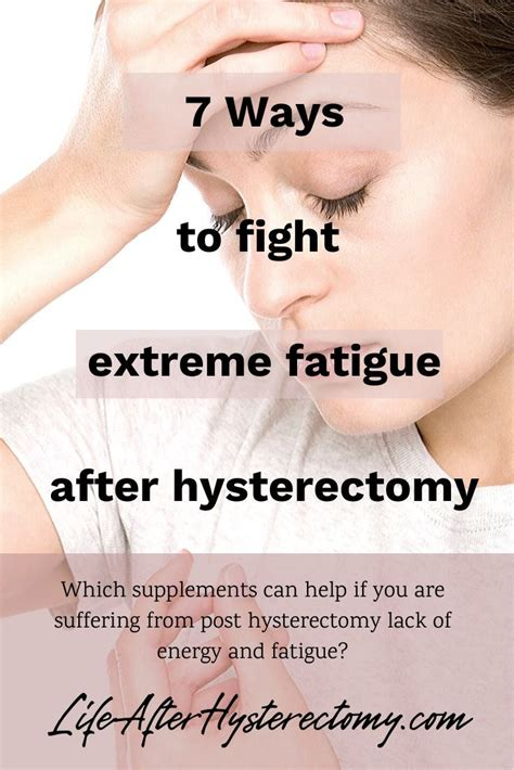 7 Ways to fight extreme fatigue after hysterectomy in 2020 ...