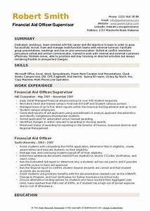 Financial Aid Officer Resume Samples