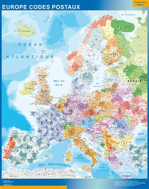 carte murale europe codes postaux grand format carte murale europe codes postaux plastifi 233 e ou