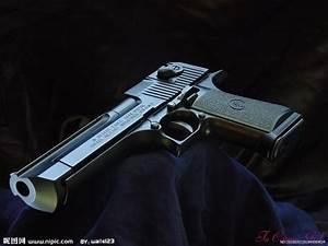 以色列沙漠之鹰手枪摄影图__军事武器_现代科技_摄影图库_昵图网nipic.com