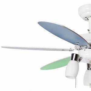 Ventilateur De Plafond 92 Cm Pour Chambre D39enfant Avec