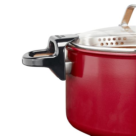 asotv red copper  pasta pot