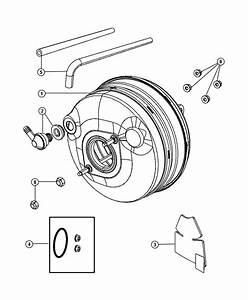 2009 Dodge Grand Caravan Booster  Power Brake  Disc  Wheel
