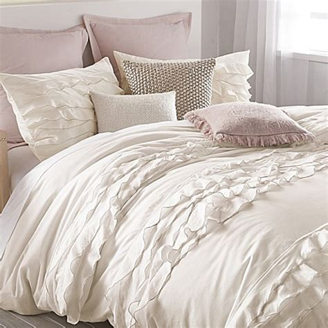donna karan bedding bed bath and dkny flirt duvet cover in white bed bath beyond