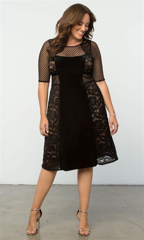 size velvet dress mixed lace cocktail dress